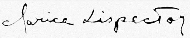 Assinatura de Clarice Lispector