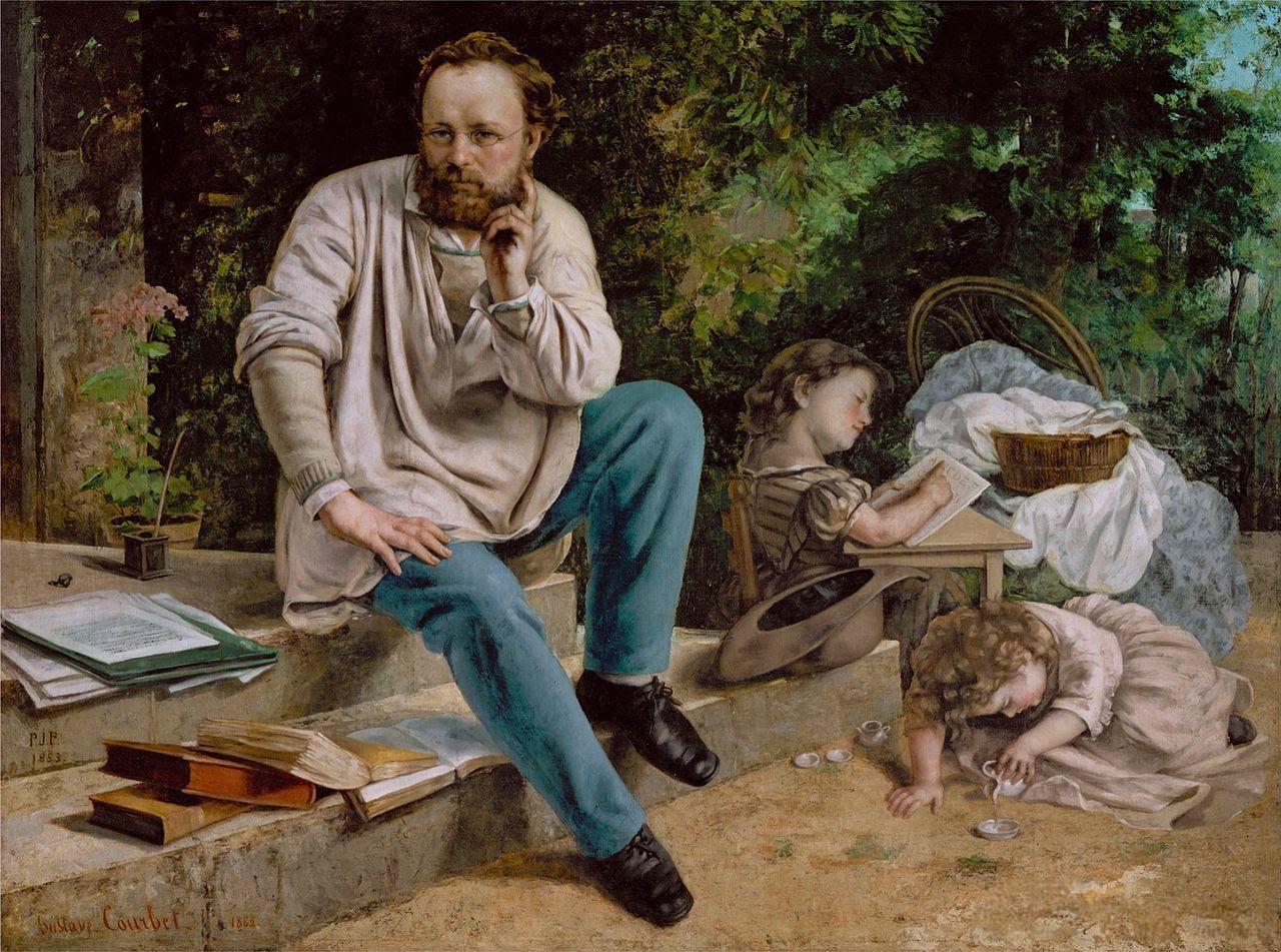 Pierre-Joseph Proudhon e seus filhos – Gustave Courbet (1865)