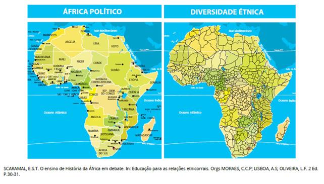 A divisão territorial da África refletiu a divisão de poder das potências europeias.