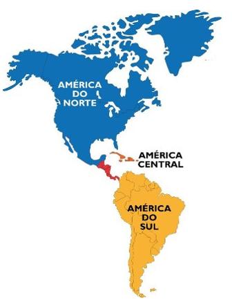 Divisão física e natural da América